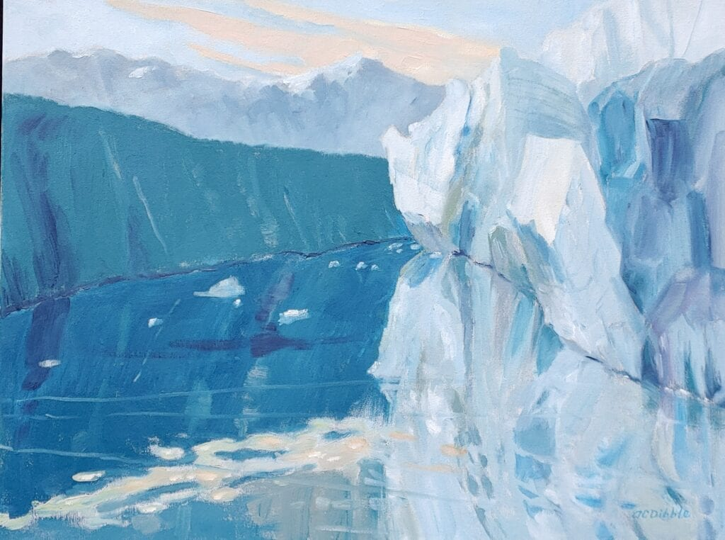 Ice falling from the glacier Oil on canvas, 18 x 24 x 1.5 inches Product number 4623 Product image
