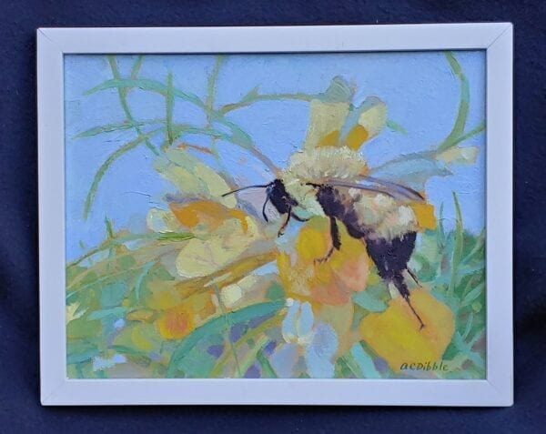 Frame, Bumble bee on butter-and-eggs, by Alison C. Dibble
