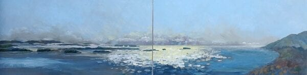 Just before winter by Alison Dibble oil on canvas 24 x 96 inches