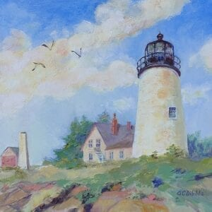 Pemaquid Light, Alison Dibble, oil on panel, 11 x 14 inches 4531
