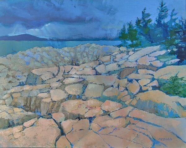 Schoodic Point by Alison C. Dibble, oil on canvas, 24 x 30 inches 4486